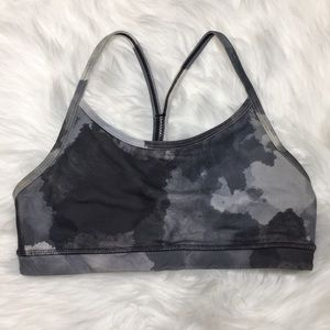 Lululemon Gray Space Dye Sports Bra Size 4